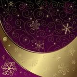 Christmas purple-gold frame