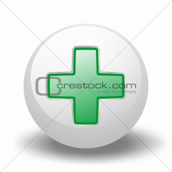 Green Cross On Ball
