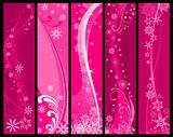 Christmas and winter banners