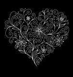 Abstract flourish heart