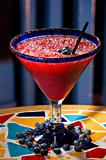 Blueberry margarita cocktail