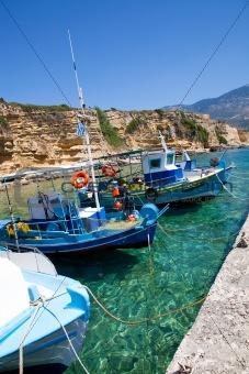 Fishing boats in Kefalonia