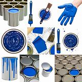 Blue Painting objects
