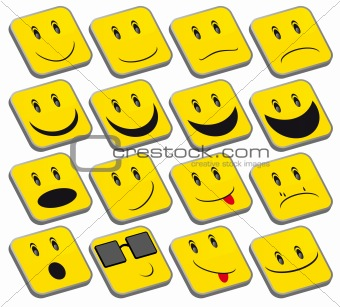 Set of Yellow Smileys