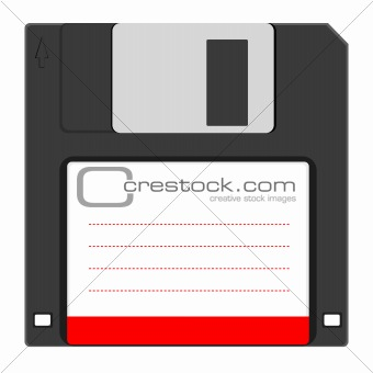 Old floppy disc for computer data storage