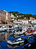 Adriatic town of Veli Losinj harbor