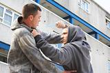 Knife Crime On Urban Street