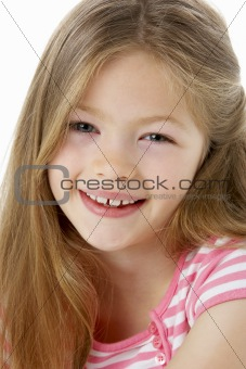 Studio Portrait of Smiling Girl