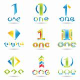 Icons for number 1