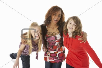 Portrait Of Three Teenage Girls