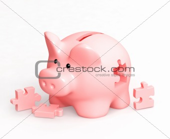 Piggy bank and puzzles