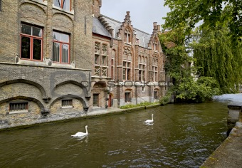 Beautiful canal view in Brugge