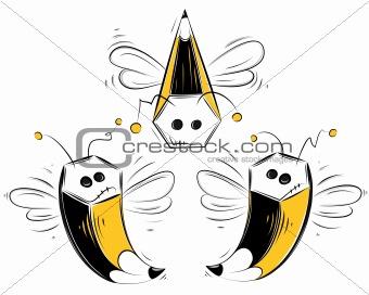 Pencil bees