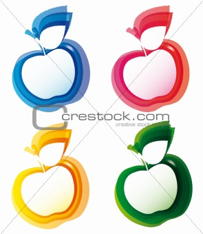 Abstract colorful banner template apple