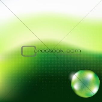 Green Background Glass Sphere