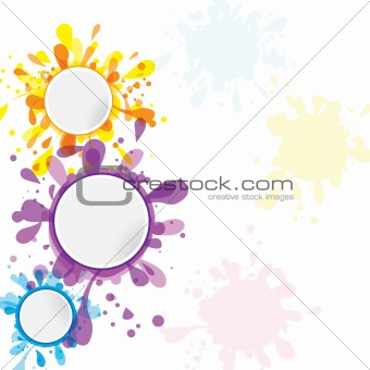 Abstract colorful banner template ink
