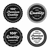 Vintage premium quality badges
