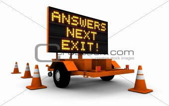 Answers! - Construction Sign Message