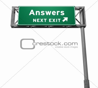 Answers - Next Exit Freeway Sign