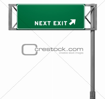 Blank Freeway Exit Sign