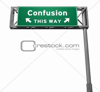 Confusion - Freeway Exit Sign