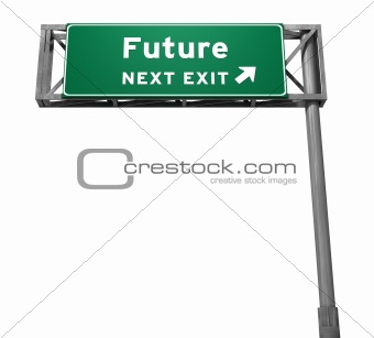 Future - Freeway Exit Sign