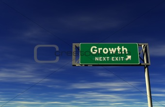 Growth - Freeway Exit Sign