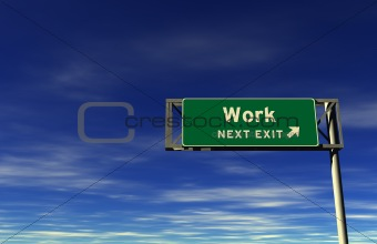 Work - Freeway Exit Sign