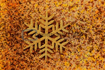 christmas snowflake golden symbol