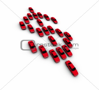 Cars Making Dollar Symbol