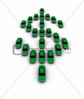 Cars Making Dollar Symbol