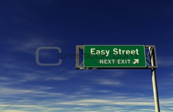 Easy Street Freeway Exit Sign