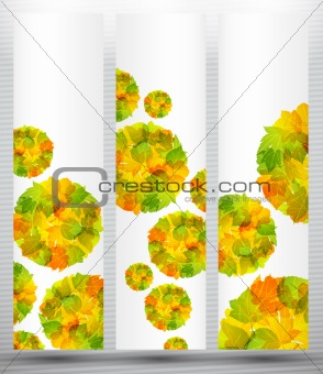 autumn discount sale banner poster abstract