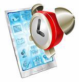 Alarm clock icon phone concept