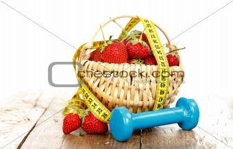 Fitness concept with fruits