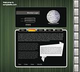 Web site design template 55