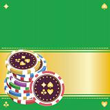 pile of playing chips on a green background.eps8