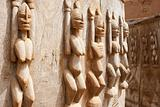 Wood sculptures, Mali.