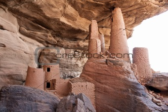 Ancient Dogon village, Mali (Africa).