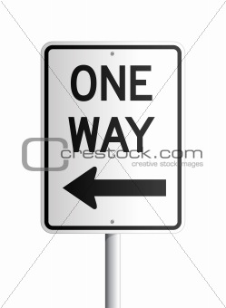 One way board