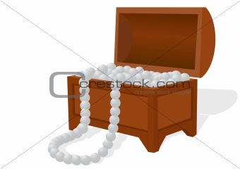 Box with a pearl necklace
