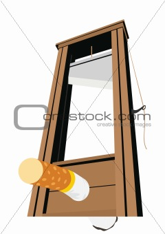 The guillotine and a cigarette