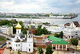Panoramic view summer Nizhny Novgorod Russia
