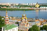 Colorful view of summer Nizhny Novgorod Russia