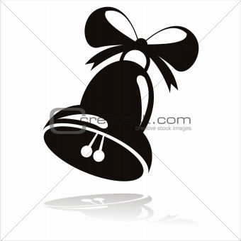 black christmas bell icon