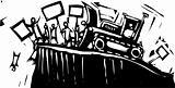 Protest Bulldozer
