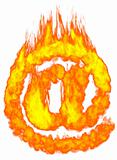 Burning E-mail Symbol AT