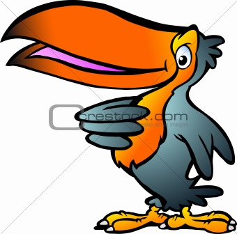 Hand-drawn Vector illustration of an Toucan