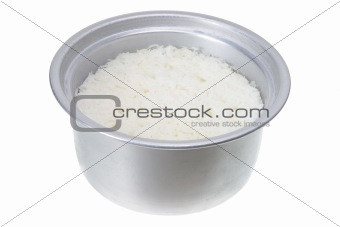 Pot of Cooked Rice