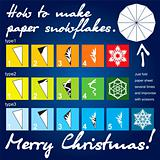 How to make paper snowflakes template